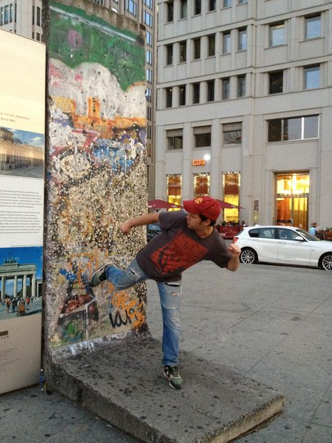 At the Berlin Wall.  July, 2013.  7 months after declaring our independence from approval:)