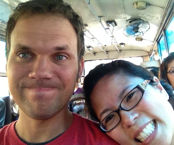 Good times on a Bangkok bus...